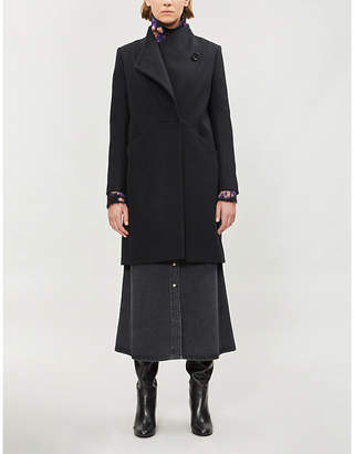 Maje Galipo single-breasted wool-blend coat