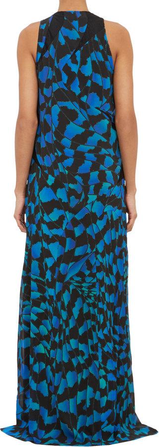 "Proenza Schouler Bug""-Print Sleeveless Maxi Dress"