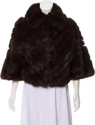 Oscar de la Renta Horizontal Sable Fur Jacket