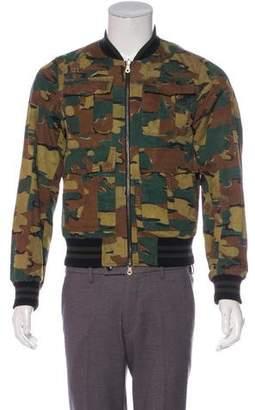 Dries Van Noten Linen-Blend Reversible Bomber Jacket