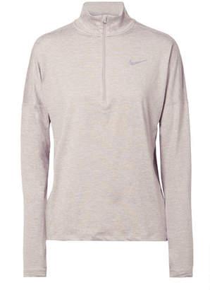 Nike Element Mesh-paneled Dri-fit Stretch-jersey Top