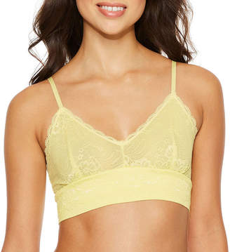 FRENCH AFFAIR French Affair Wireless & Lace Mesh Longline Bralette-3994BR