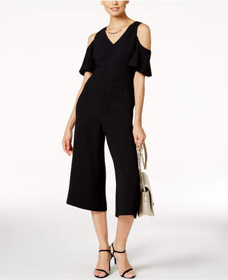 Alfani PRIMA Cropped Cold-Shoulder Jumpsuit, Only at Macy's $99.50 thestylecure.com