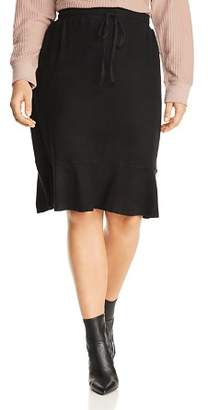 Bobeau B Collection by Curvy Renata Drawstring Flutter Skirt