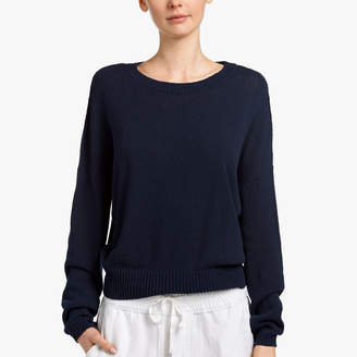 James Perse COTTON CREPE SWEATER