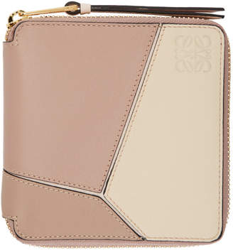 Loewe Pink Small Puzzle Wallet