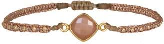 LeJu London Peach Sunstone Handwoven Bracelet