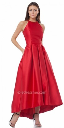 Carmen Marc Valvo Infusion High-Low Pleated Evening Gown $395 thestylecure.com