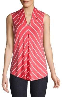 Cable & Gauge Sleeveless Striped Top