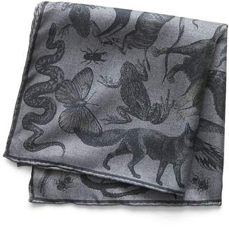 Banana Republic Animal Kingdom Silk Pocket Square
