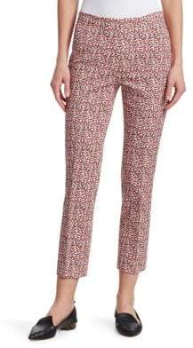 Akris Punto Printed Stretch-Cotton Pants