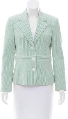 Michael Kors Striped Notch-Lapel Jacket