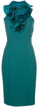 DSQUARED2 ruffle trim pencil dress