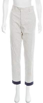 Tia Cibani Mid-Rise Stripped Pants w/ Tags