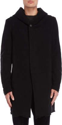 Masnada Raw Hem Hooded Coat