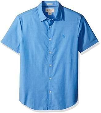 Original Penguin Men's Short Sleeve Stretch Chambray Shirt