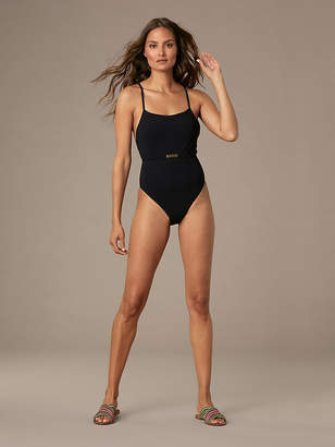 Diane von Furstenberg Belted Cheeky One-Piece