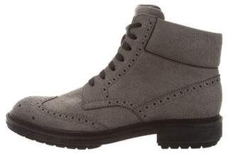 Alejandro Ingelmo Suede Wingtip Ankle Boots
