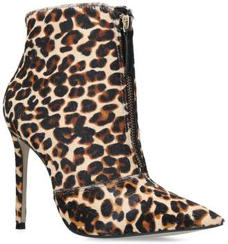 Carvela Leopard Specious Ankle Boots