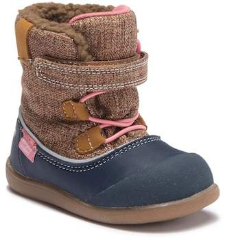 See Kai Run Abby Waterproof Faux Fur Trimmed Boot (Toddler)