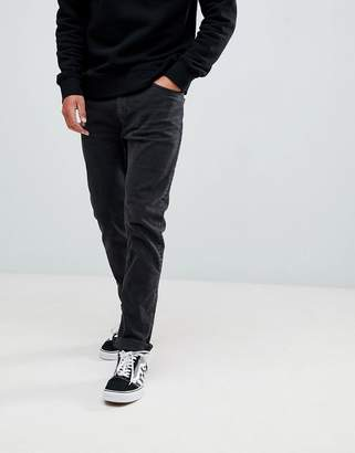 Bershka Slim Fit Jeans In Washed Black