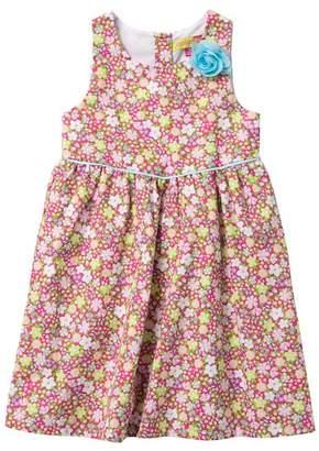 Penelope Mack Floral Print Sun Dress (Little Girls)