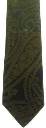 Etro Paisley Print Silk Tie