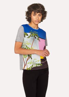 Paul Smith Women's Grey 'LA Wall' Print T-Shirt