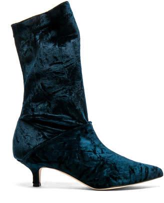 Tibi Harper Velvet Boots