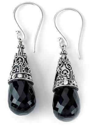 Samuel B Jewelry Sterling Silver Filigree Cone Set Black Onyx Drop Earrings