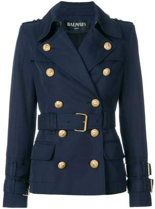 Balmain double-breasted belted jacket