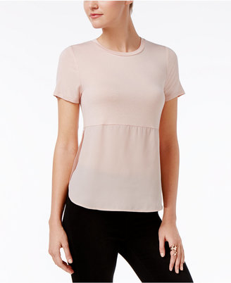 Bar Iii Short-Sleeve Contrast Top, Only at Macy's $39.50 thestylecure.com