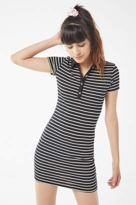 Urban Outfitters Striped Button-Down Polo Mini Dress