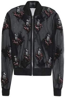 Markus Lupfer Embellished Embroidered Silk-Organza Jacket
