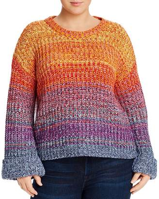 AQUA Curve Rainbow Marled Sweater - 100% Exclusive