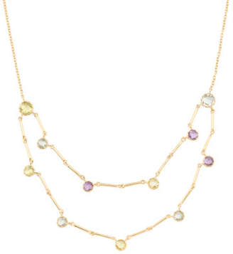Made In Bali Plated Sterling Silver Amethyst Quartz Necklace