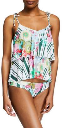 Johnny Was Hadley Tiered Ruffle Tankini Top