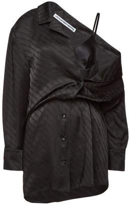 5994a3c3397 Alexander Wang Asymmetric Shirt Dress with Lace
