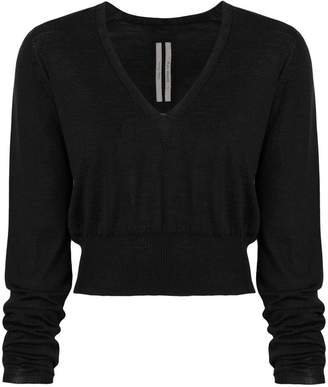 Rick Owens v-neck cropped sweater
