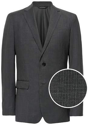 Banana Republic Slim Italian Wool Plaid Suit Jacket