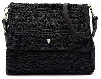 Helen Kaminski Fokai Leather Trimmed Shoulder Bag