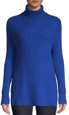 Lord & Taylor Waffle Knit Turtleneck Sweater