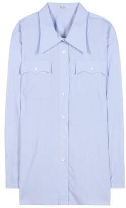 Miu Miu Oversized cotton blouse