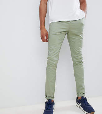 Asos Design Tall Skinny Chinos In Sage Green