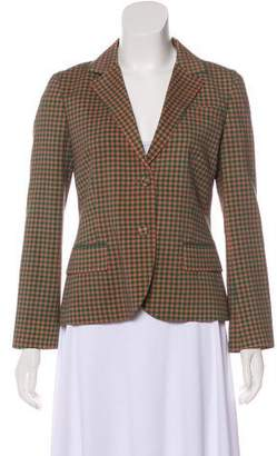 Prada Gingham Structured Jacket w/ Tags