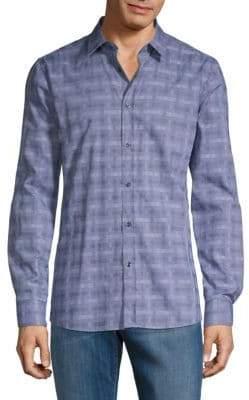 HUGO BOSS Elisha Check Print Shirt