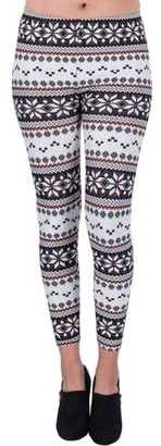 Aerusi Women's Arctic Design Full Length Stretchy Leggings