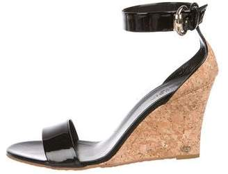 bb3808c281ad12 Pre-Owned at TheRealReal · Gucci Patent Leather Ankle-Strap Wedges