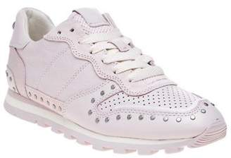 Coach New Womens Pink Natural C118 With Rivets Leather Trainers Running Style