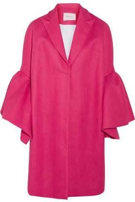 DELPOZO Fluted Linen Jacket